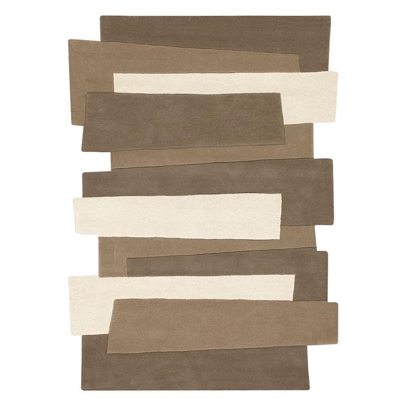 port offert tapis pebbles design beige et taupe angelo - Tapis Taupe