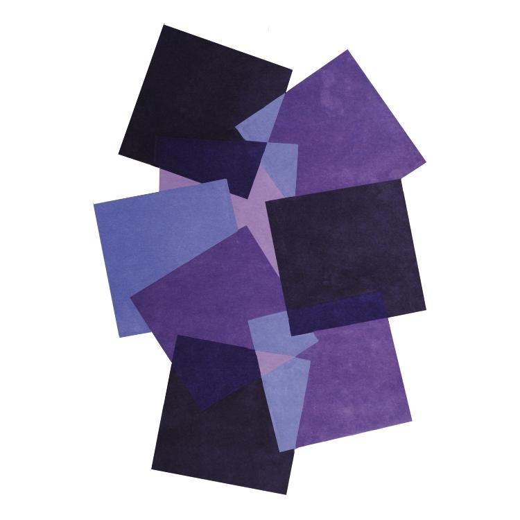 tapis pebbles angelo design mauve 200x300. Black Bedroom Furniture Sets. Home Design Ideas