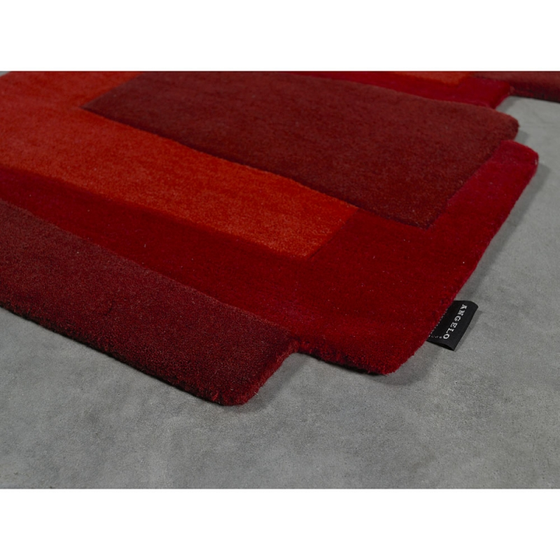 tapis de couloir design pebbles rouge angelo 70x250. Black Bedroom Furniture Sets. Home Design Ideas