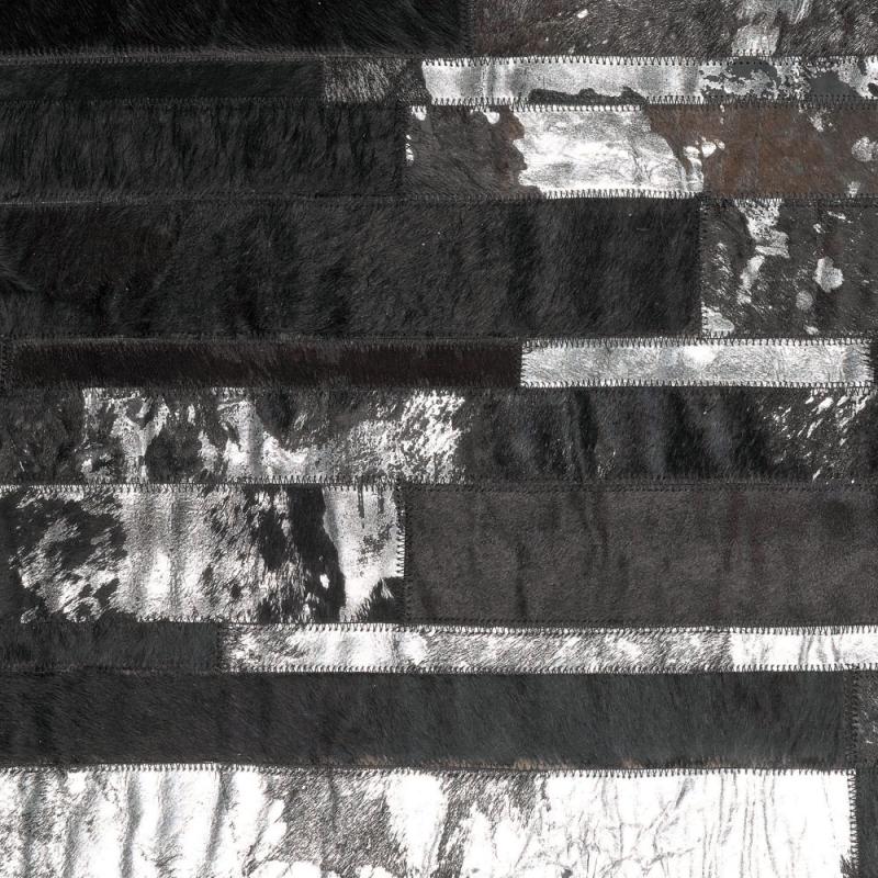 tapis en cuir noir star angelo 140x200. Black Bedroom Furniture Sets. Home Design Ideas