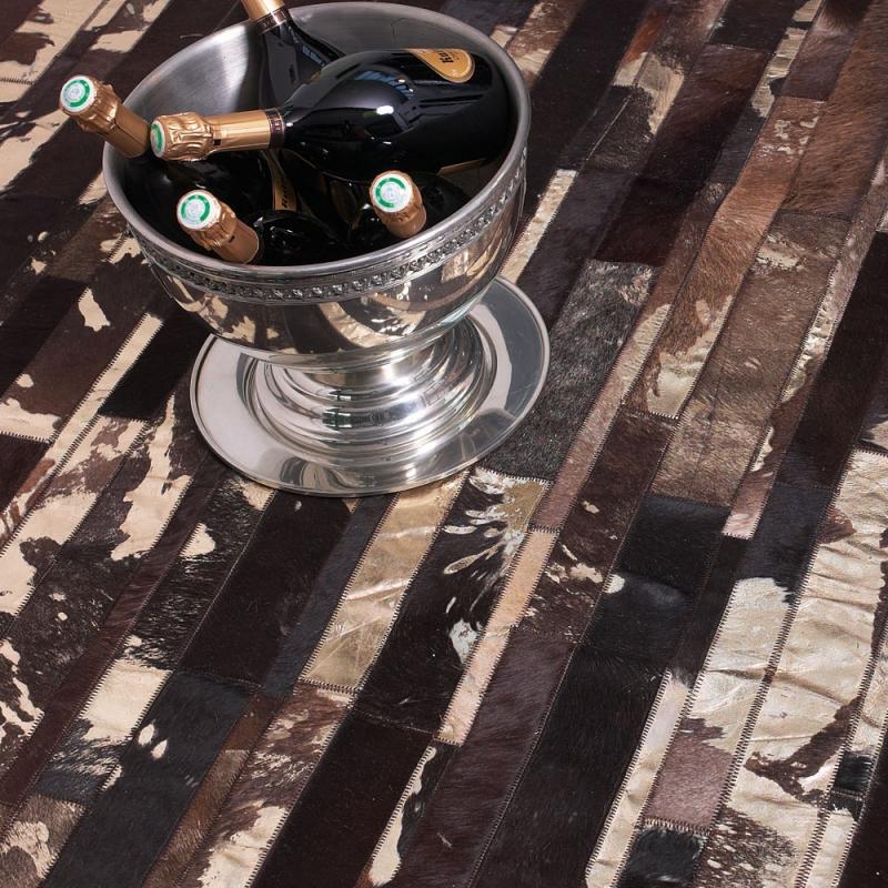 tapis en cuir marron star angelo 140x200. Black Bedroom Furniture Sets. Home Design Ideas