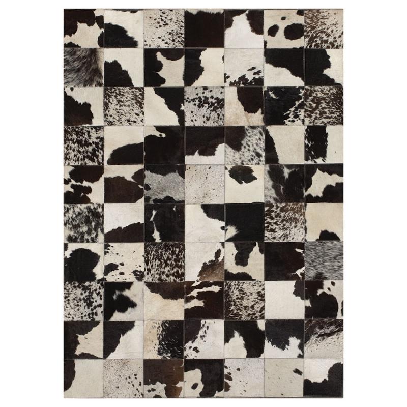 Tapis patchwork cuir starless motif vache angelo 170x240