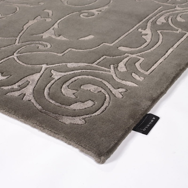 tapis sydney en laine taupe motif baroque angelo 140x200. Black Bedroom Furniture Sets. Home Design Ideas