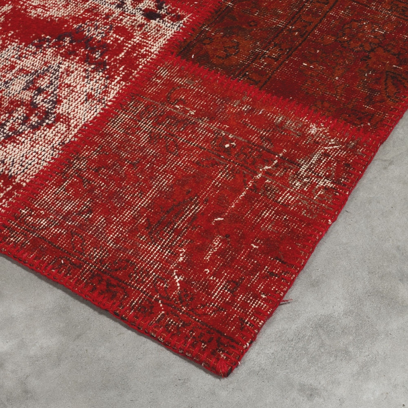 tapis tuft main up cycle rouge angelo 200x300. Black Bedroom Furniture Sets. Home Design Ideas