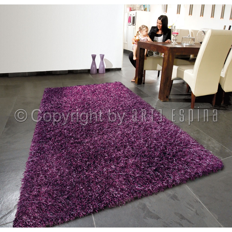 tapis shaggy beat violet arte espina 70x140. Black Bedroom Furniture Sets. Home Design Ideas