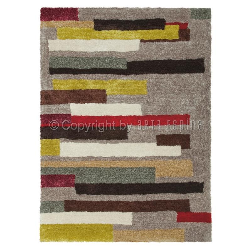 Tapis shaggy multicolore dance arte espina 120x180 - Tapis shaggy multicolore ...