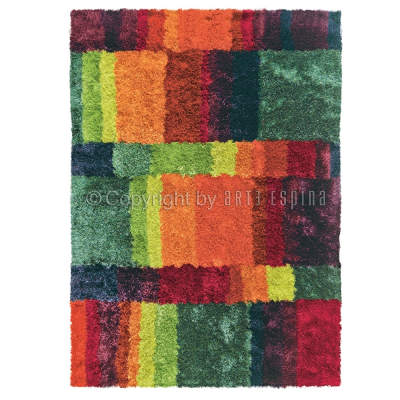 tapis arte espina shaggy funky multicolore 140x200 With tapis shaggy multicolore
