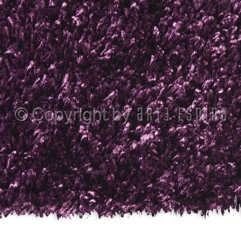tapis carr shaggy soul violet arte espina 200x200. Black Bedroom Furniture Sets. Home Design Ideas