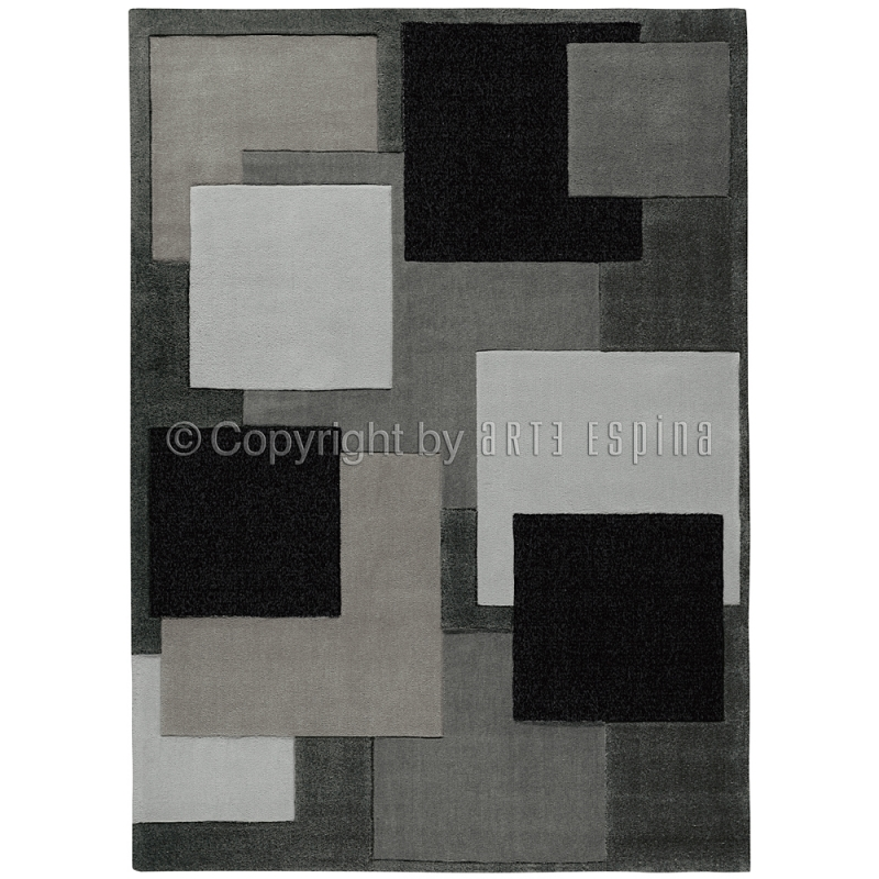 Tapis moderne reflective gris fonc arte espina 120x180 for Grand tapis salon moderne