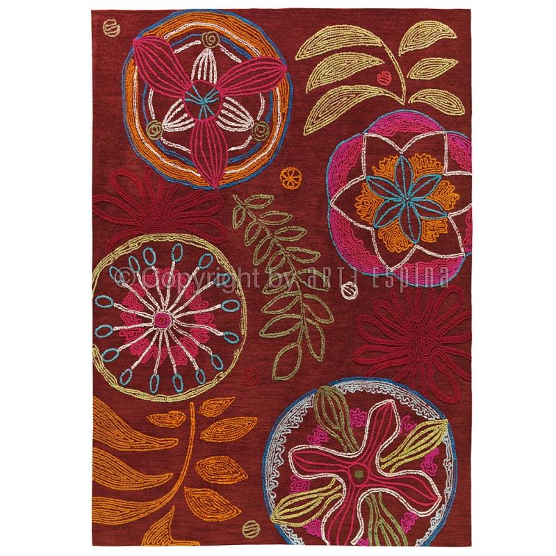 tapis floral arte espina tropical passion rouge 140x200. Black Bedroom Furniture Sets. Home Design Ideas