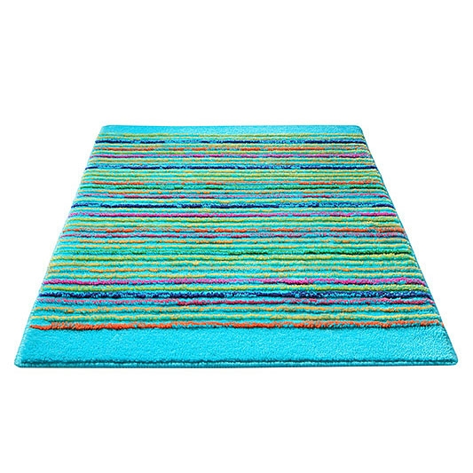 tapis de bain esprit home cool stripes turquoise 60x100. Black Bedroom Furniture Sets. Home Design Ideas