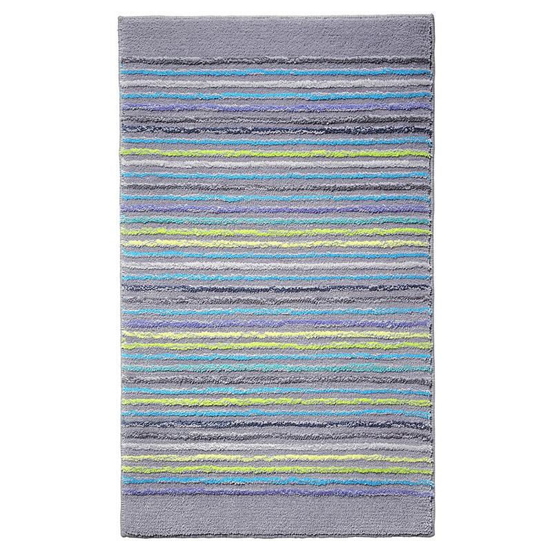 tapis de bain esprit home cool stripes gris 60x100. Black Bedroom Furniture Sets. Home Design Ideas