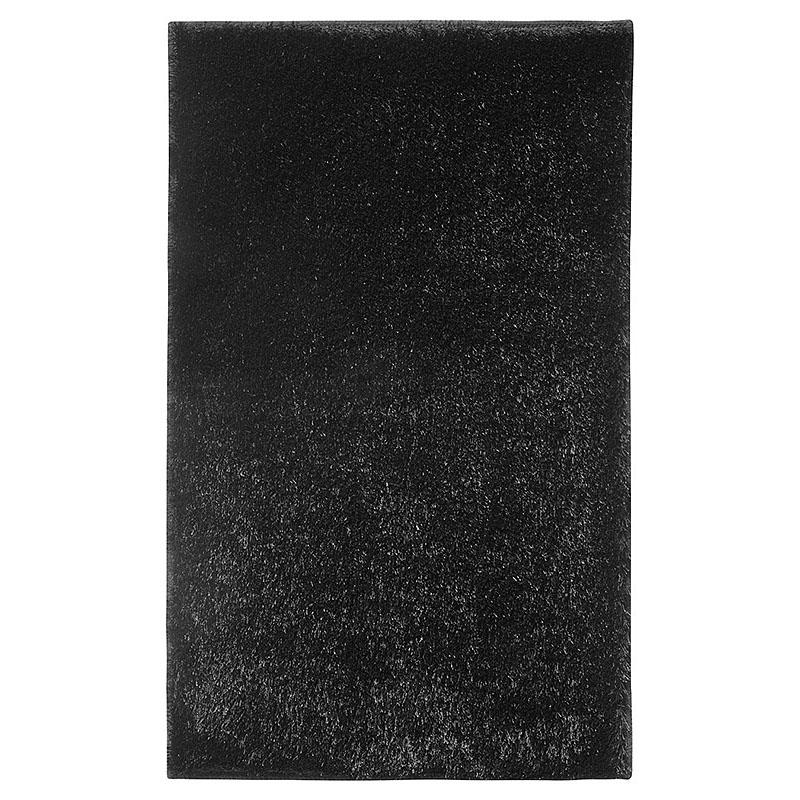 Tapis de bain chill noir esprit home 55x65 for Tapis salle de bain noir