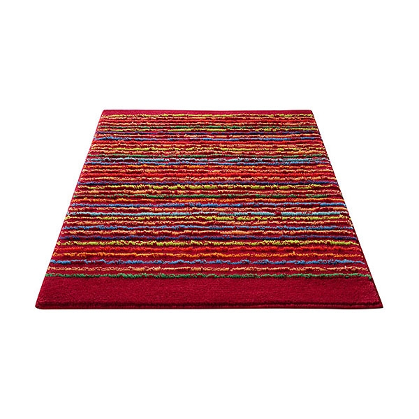 Tapis de bain rouge cool stripes esprit home 70x120 for Tapis salle de bain rouge