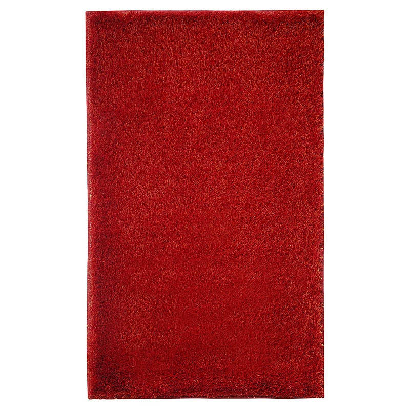 Tapis de bain rouge chill esprit home 70x120 for Tapis salle de bain rouge