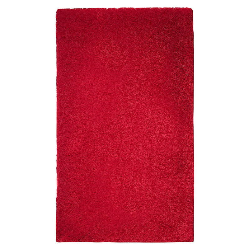Tapis de bain event rouge esprit home 55x65 for Tapis salle de bain rouge