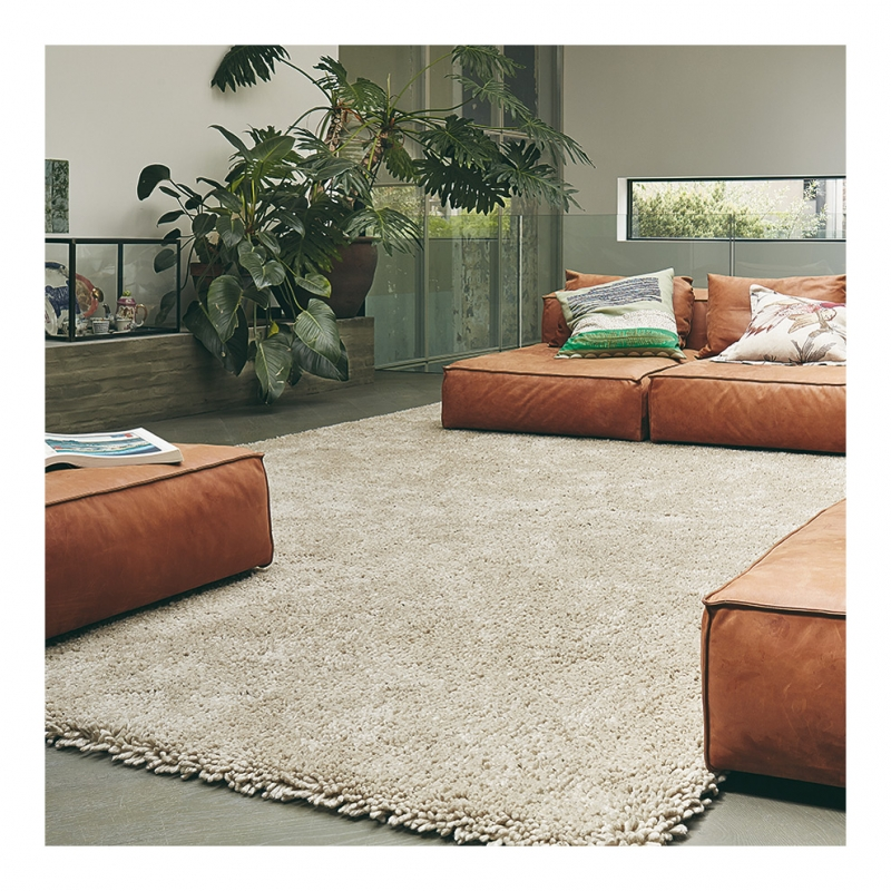 tapis shaggy berber beige brink campman 120x180. Black Bedroom Furniture Sets. Home Design Ideas