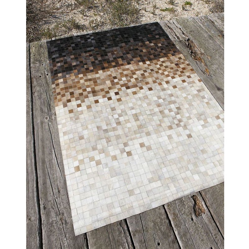 tapis en cuir quadra rain carving 170x240. Black Bedroom Furniture Sets. Home Design Ideas