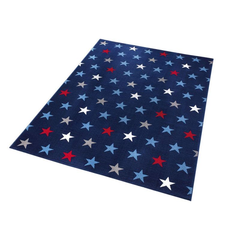 tapis moderne starry sky wecon bleu 133x220. Black Bedroom Furniture Sets. Home Design Ideas