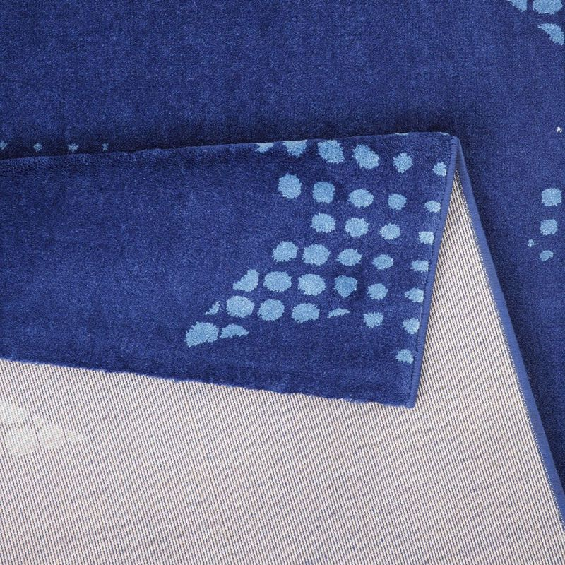 tapis wecon moderne bleu star dust 133x200. Black Bedroom Furniture Sets. Home Design Ideas