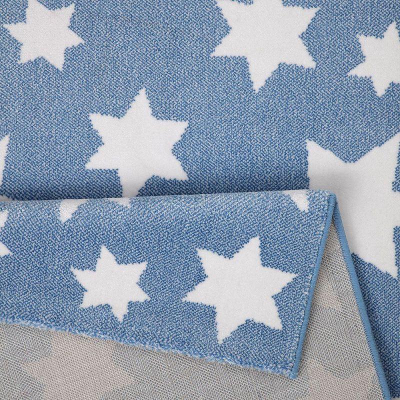 tapis wecon moderne bleu jeans star 160x225. Black Bedroom Furniture Sets. Home Design Ideas
