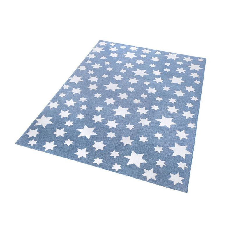 tapis bleu moderne jeans star wecon 133x200. Black Bedroom Furniture Sets. Home Design Ideas