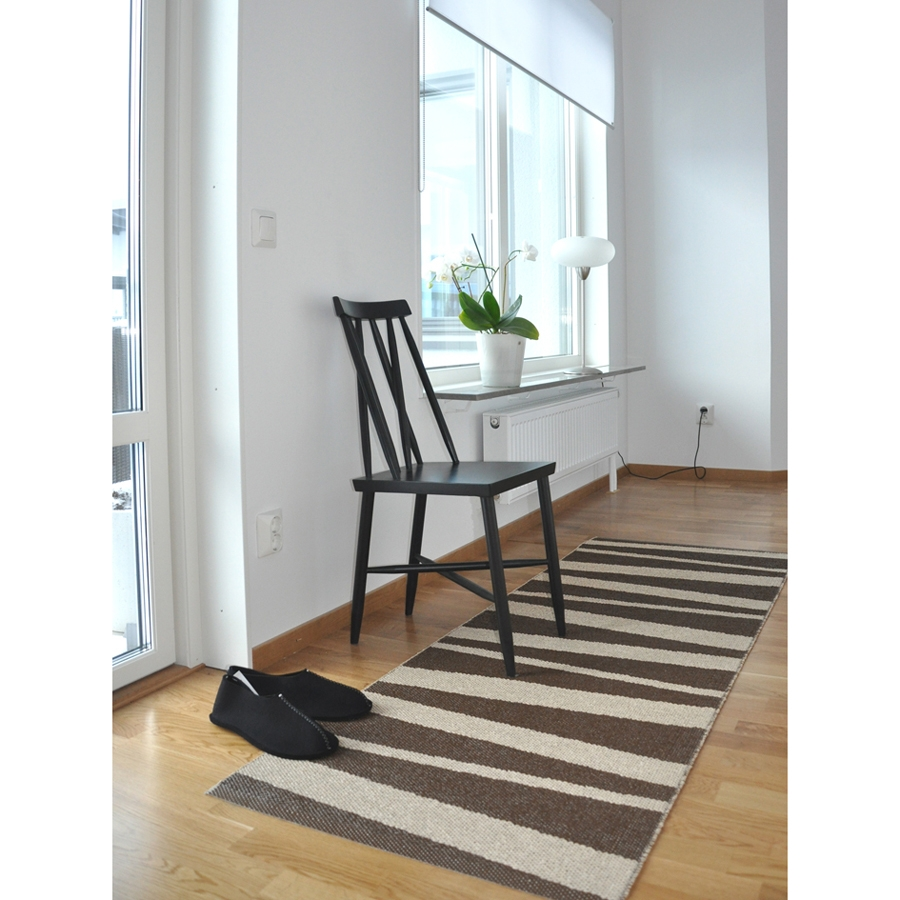 tapis de couloir are beige et brun sofie sjostrom design 70x100. Black Bedroom Furniture Sets. Home Design Ideas