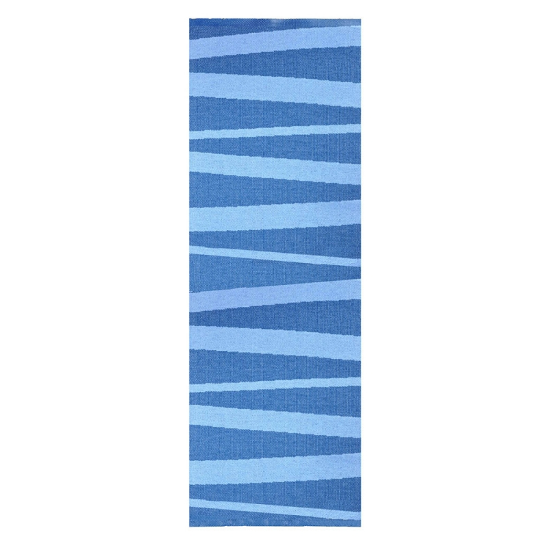 Tapis De Couloir Are Zebre Bleu Sofie Sjostrom Design 70x300