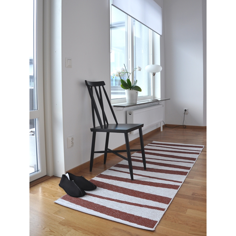 tapis de couloir are sofie sjostrom design ray choco et blanc 70x100. Black Bedroom Furniture Sets. Home Design Ideas