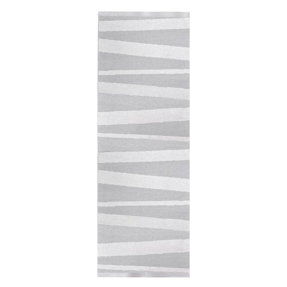 tapis de couloir ray gris et blanc are sofie sjostrom design 70x200. Black Bedroom Furniture Sets. Home Design Ideas