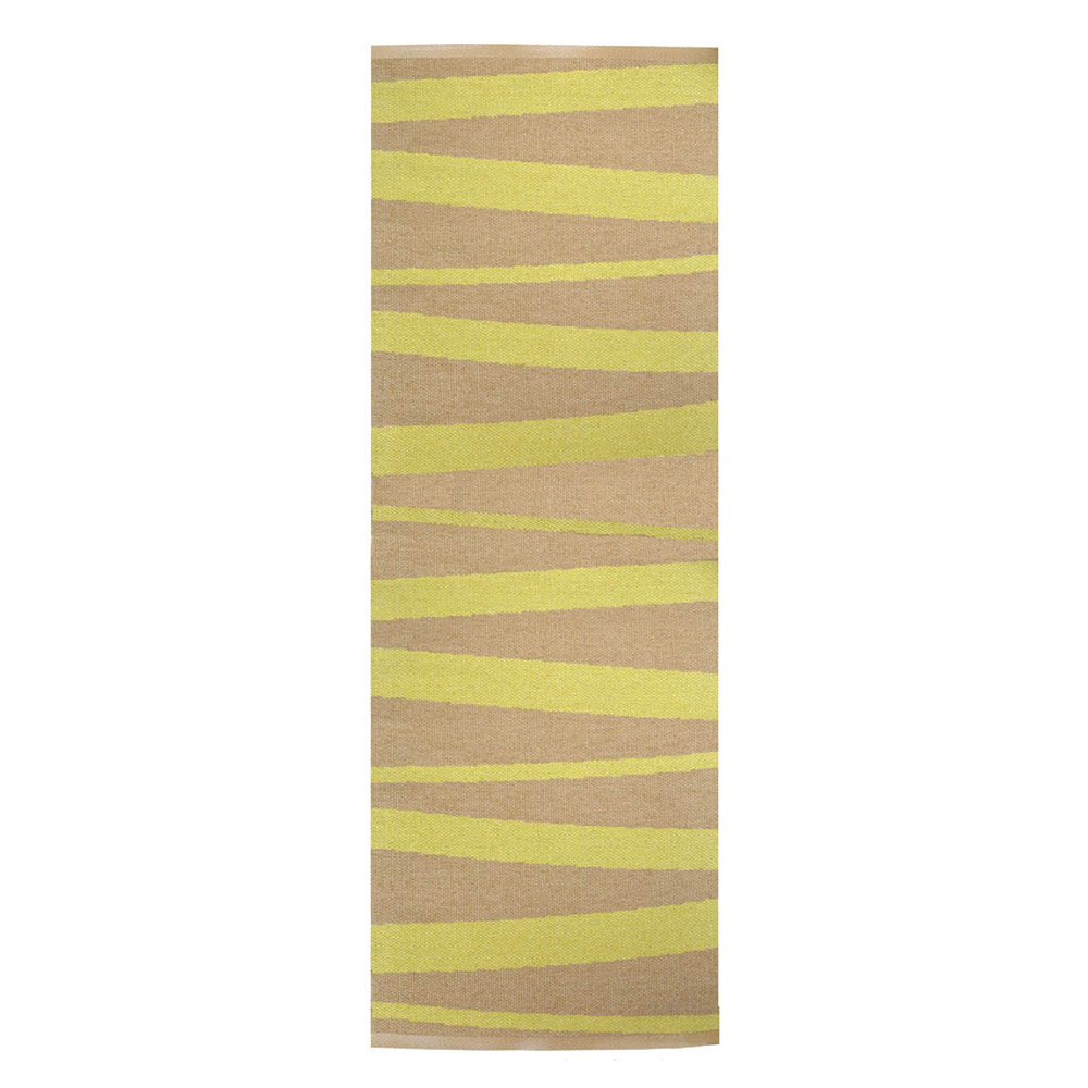 Tapis De Couloir Are Ray Ocre Et Jaune Sofie Sjostrom Design 70x300
