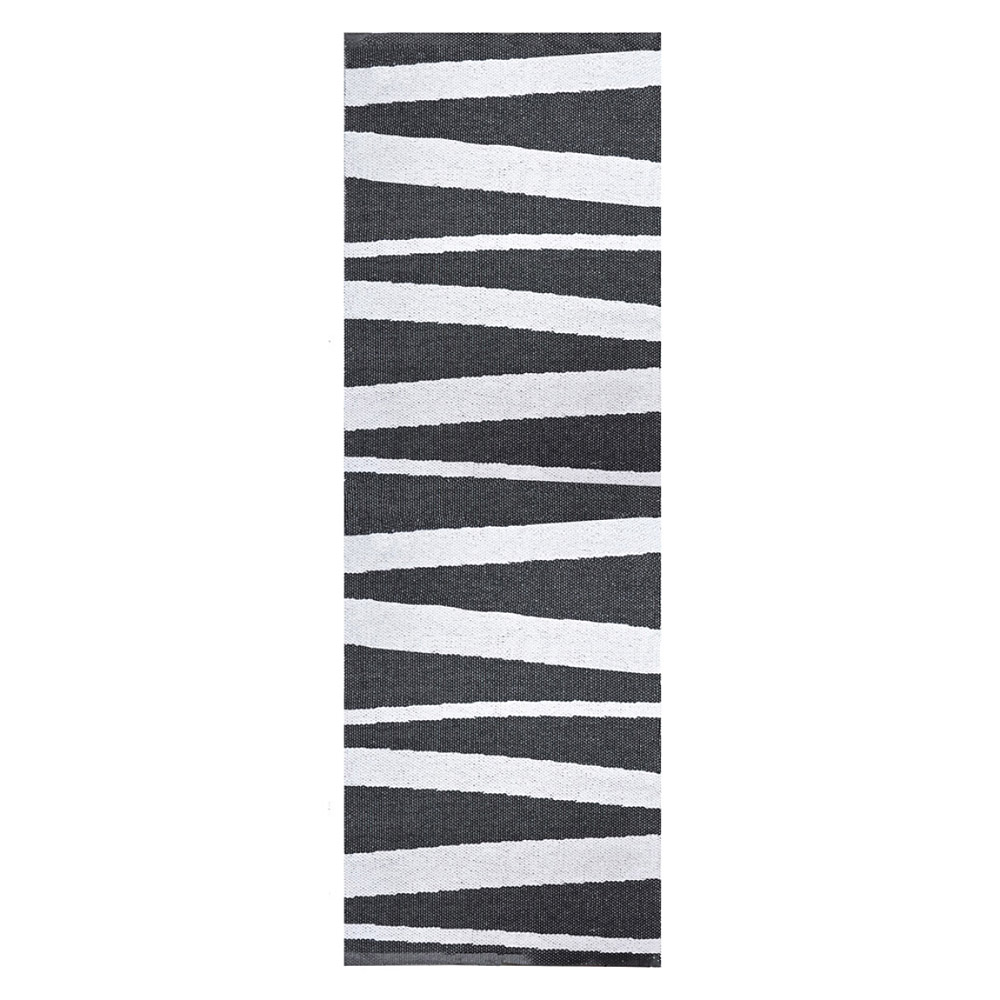 tapis de couloir ray noir et blanc sofie sjostrom design are 70x200. Black Bedroom Furniture Sets. Home Design Ideas