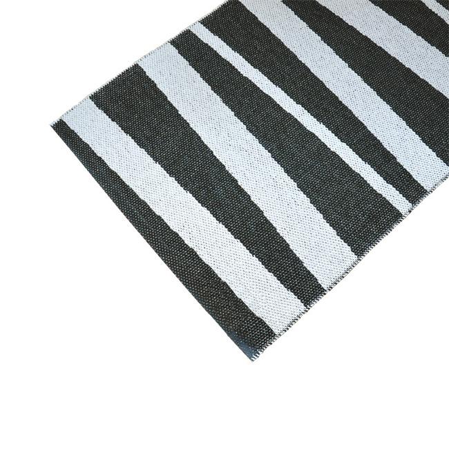 tapis de couloir rayé noir et blanc sofie sjostrom design are 70x200