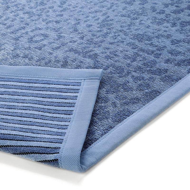 tapis de bain bleu caldera esprit home 53x65. Black Bedroom Furniture Sets. Home Design Ideas