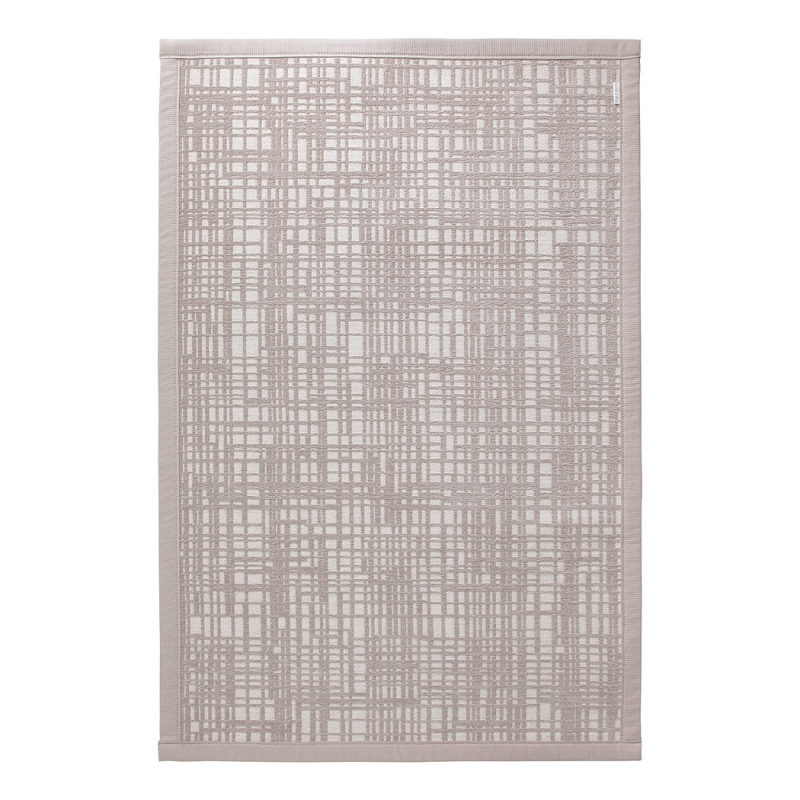 tapis de bain graficule esprit home beige 80x120. Black Bedroom Furniture Sets. Home Design Ideas