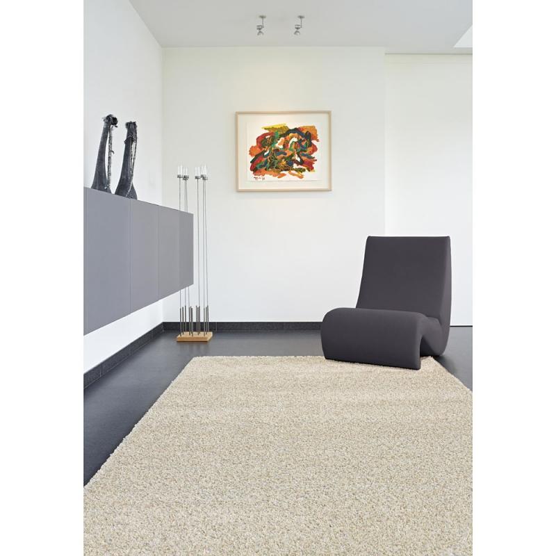 tapis shaggy fait main brooklyn blanc 120x170. Black Bedroom Furniture Sets. Home Design Ideas
