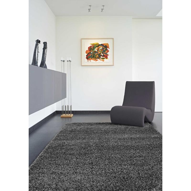 tapis shaggy fait main gris brooklyn 160x230. Black Bedroom Furniture Sets. Home Design Ideas