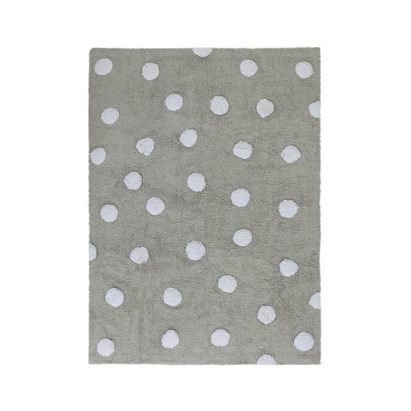 tapis enfant topos gris lorena canals 120x160. Black Bedroom Furniture Sets. Home Design Ideas