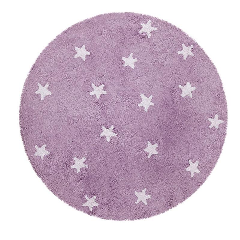 tapis enfant cielo violet lorena canals 140x140. Black Bedroom Furniture Sets. Home Design Ideas