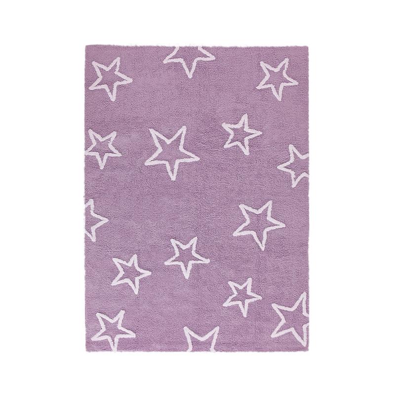 Tapis enfant estrellas violet lorena canals 120x160 for Tapis chambre fille violet