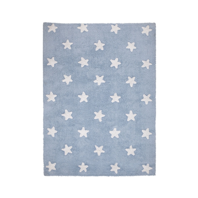tapis enfant stars bleu lorena canals 120x160. Black Bedroom Furniture Sets. Home Design Ideas