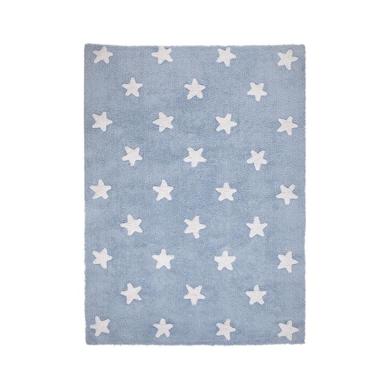tapis enfant stars bleu lorena canals 120x160. Black Bedroom Furniture Sets. Home Design Ideas