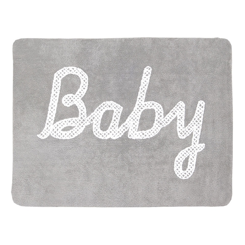 tapis enfant baby petit point gris lorena canals 120x160. Black Bedroom Furniture Sets. Home Design Ideas