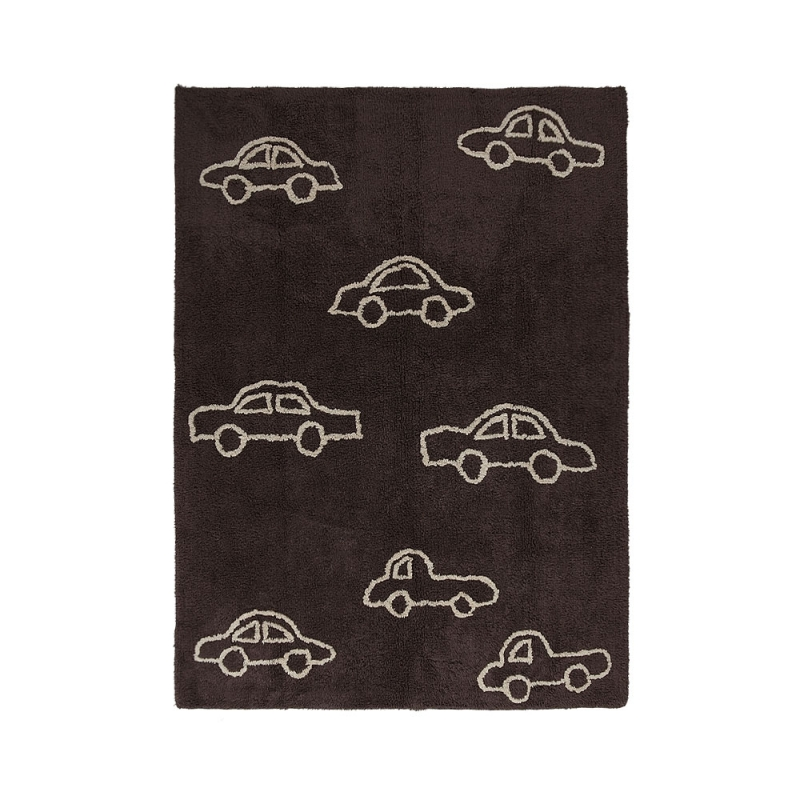 tapis enfant coches marron lorena canals 120x160. Black Bedroom Furniture Sets. Home Design Ideas