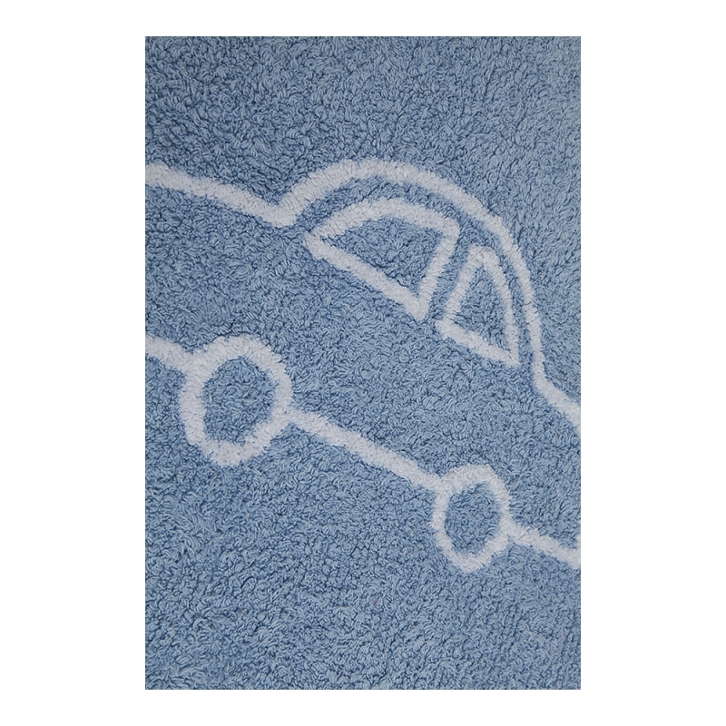 tapis enfant coches bleu lorena canals 120x160. Black Bedroom Furniture Sets. Home Design Ideas
