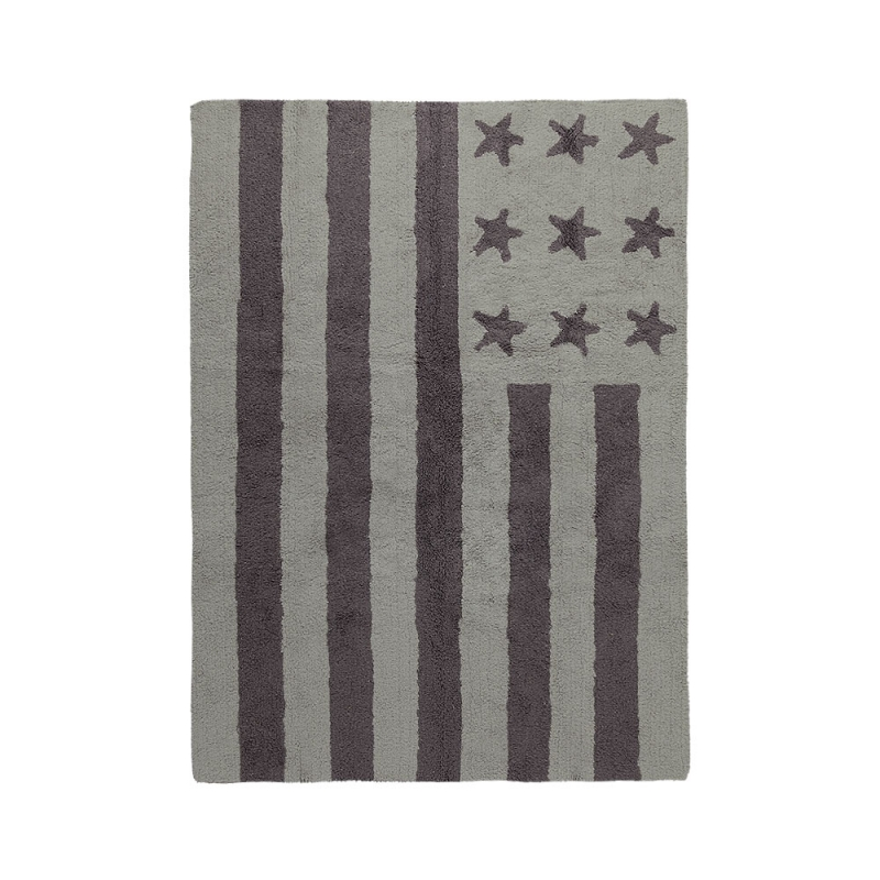 tapis enfant flag american light gris lorena canals 120x160. Black Bedroom Furniture Sets. Home Design Ideas