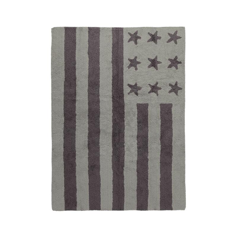 tapis enfant flag american light gris lorena canals 120x160. Black Bedroom Furniture Sets. Home Design Ideas