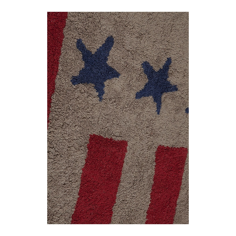 tapis enfant flag american light marron et rouge lorena canals 120x160. Black Bedroom Furniture Sets. Home Design Ideas