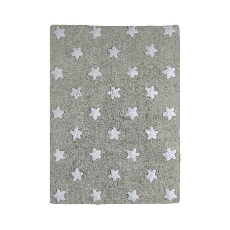 tapis enfant stars gris lorena canals 120x160. Black Bedroom Furniture Sets. Home Design Ideas