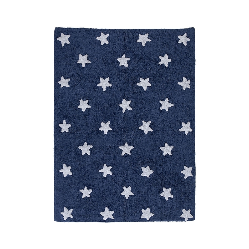 tapis enfant navy stars bleu lorena canals 120x160. Black Bedroom Furniture Sets. Home Design Ideas